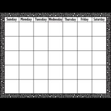 Black/White Crazy Circles Calendar Chart