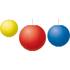 Red, Yellow & Blue Paper Lanterns