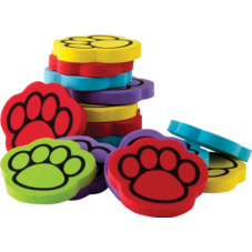 Foam Paw Print Counters