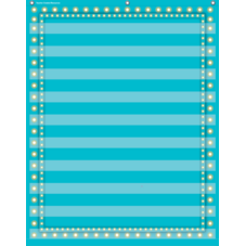 Light Blue Marquee 10 Pocket Chart
