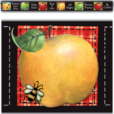 Colorful Apples Straight Border Trim from Susan Winget