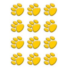 Gold Paw Prints Mini Accents
