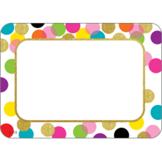 Confetti Name Tags/Labels