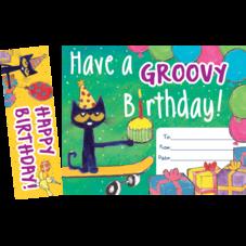 Pete the Cat Groovy Birthday Bookmark Award