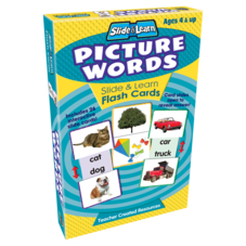 Picture Words Slide & Learn Flash Cards