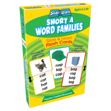 Short A Word Families Slide & Learn Flash Cards