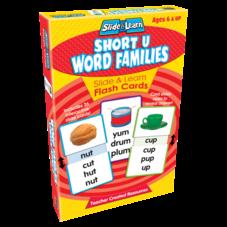 Short U Word Families Slide & Learn Flash Cards