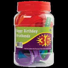 Happy Birthday Wristbands Jar (36 bands)