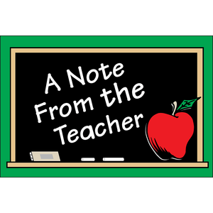 TCR1202 A Note From the Teacher Postcards Image