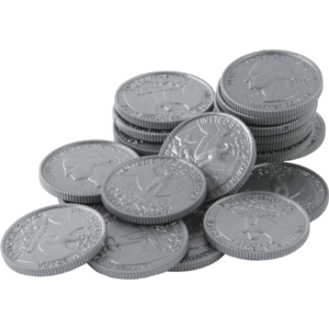 TCR20656 Play Money: Quarters Image