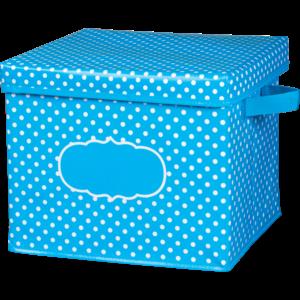TCR20817 Aqua Polka Dots Storage Box Image