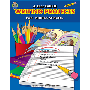 TCR3256 A Year Full of Writing Projects for Middle School Image