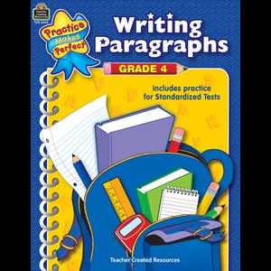 TCR3343 Writing Paragraphs Grade 4 Image