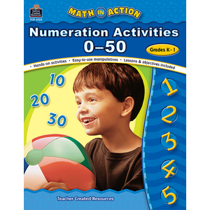 TCR3525 Math In Action: Numeration Activities 0-50 Image