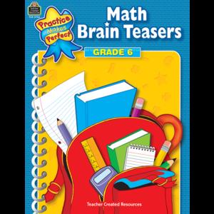 TCR3756 Math Brain Teasers Grade 6 Image