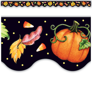 TCR4145 Halloween Scalloped Border Trim from Mary Engelbreit Image