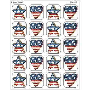 TCR4251 Patriotic Stickers from Susan Winget Image