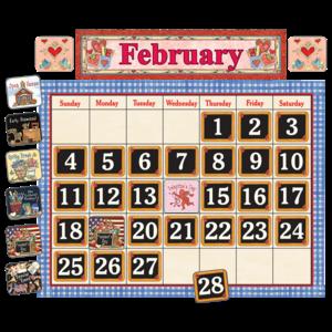 TCR4291 School Time Calendar Bulletin Board from Susan Winget Image