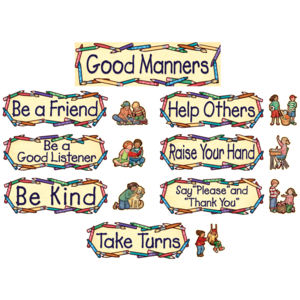 TCR4297 Good Manners Mini Bulletin Board from Susan Winget Image
