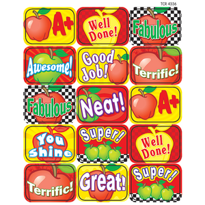 TCR4336 Apples Motivational Jumbo Stickers Image