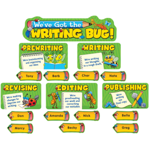 TCR4566 We've Got the Writing Bug Mini Bulletin Board Image