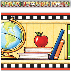 TCR4603 We Love Books Straight Border Trim from Mary Engelbreit Image