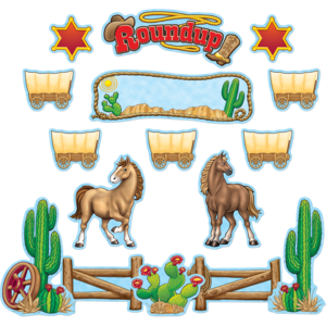 TCR4776 Western Roundup Bulletin Board Display Set Image