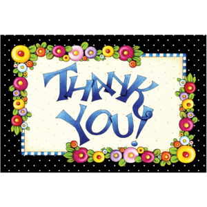 TCR4807 Thank You Postcards from Mary Engelbreit Image