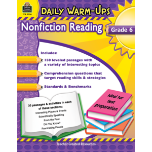 TCR5036 Daily Warm-Ups: Nonfiction Reading Grade 6 Image
