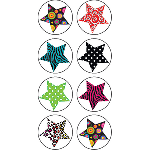 TCR5259 Fancy Stars Mini Stickers Image