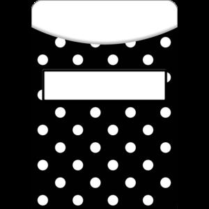 TCR5552 Black Polka Dots Library Pockets Image