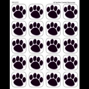 TCR5777 Black Paw Prints Stickers Image