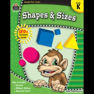 TCR5970 Ready-Set-Learn: Shapes & Sizes Grade K Image