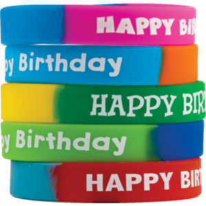 TCR6571 Fancy Happy Birthday Wristbands Image