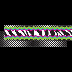 TCR73257 Zebra Chevron Dot Ribbon Runner Image