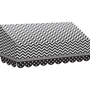 TCR77164 Black & White Chevrons and Dots Awning Image