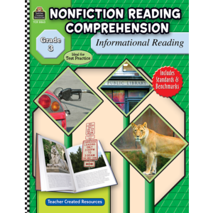 TCR8863 Nonfiction Reading Comprehension: Informational Reading, Grade 3 Image
