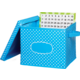 Aqua Polka Dots Storage Box Alternate Image A'}