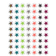 Fancy Stars Mini Stickers Alternate Image A'}