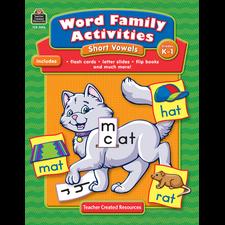 Word Family Activities: Short Vowels Grade K-1
