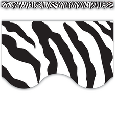 Zebra Scalloped Border Trim