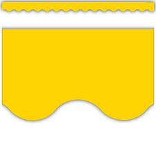 Yellow Gold Scalloped Border Trim