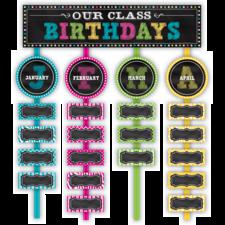 Chalkboard Brights Our Class Birthdays Mini Bulletin Board