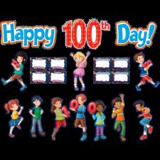 Fireworks Happy 100th Day Bulletin Board Display Set