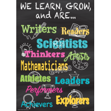 We Learn, Grow, and Are...Positive Poster