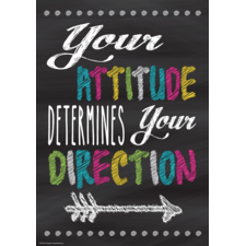 Your Attitude Determines Your Direction Positive Poster