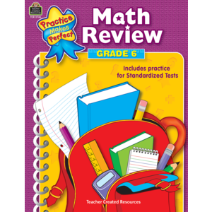 TCR3746 Math Review Grade 6 Image