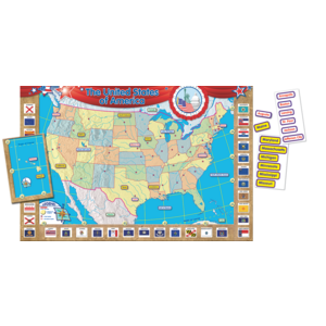 TCR4403 US Map (Repositionable) Bulletin Board Display Set Image