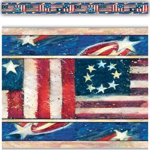 TCR4631 Patriotic Straight Border Trim from Susan Winget Image