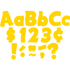 """TCR5818 Yellow Gold Funtastic 4"""" Letters Combo Pack Image"""
